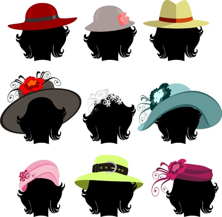 pink hat: hats Illustration