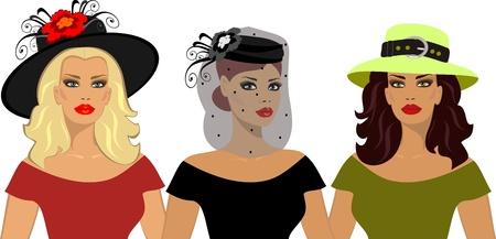 straw hat: hats Illustration