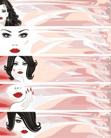 pampering: makeup banner Illustration
