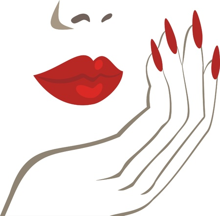 manicura: maquillaje Vectores