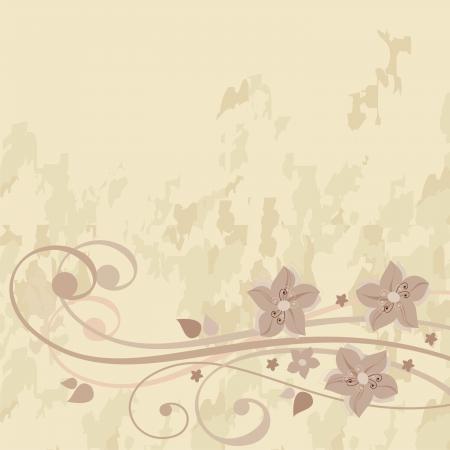 floral grunge: postcard