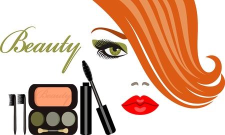 eyebrow makeup: makeup Illustration