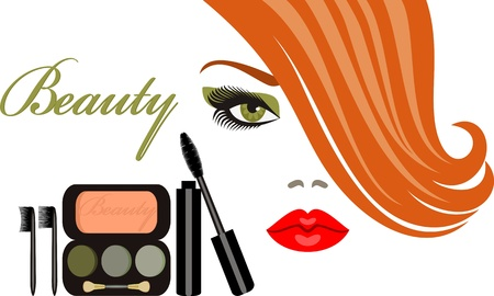 lens brush: makeup Illustration