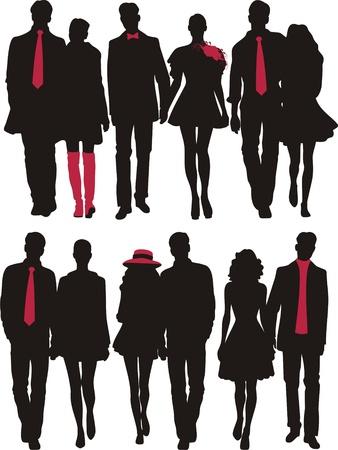 black tie: love couple Illustration