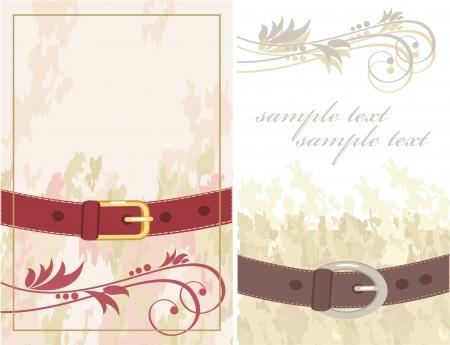 leather belt: postcard for men