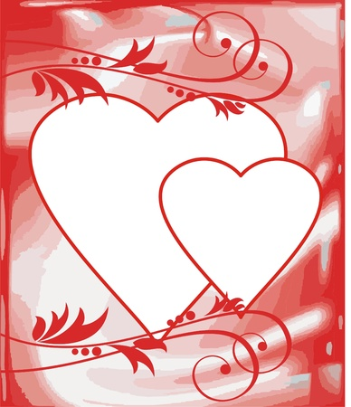 valentine postcard Stock Vector - 17329767
