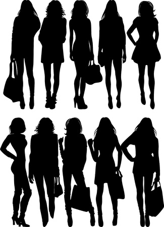 fashion silhouette Vector