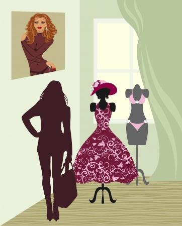 Red panties: closthing salon Illustration