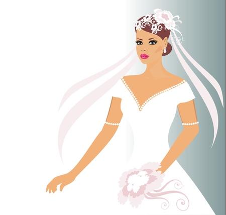 hair cover: bride