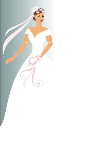 pink swirl: bride