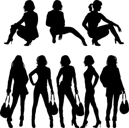 lady silhouette: fashion silhouette
