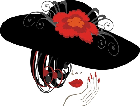 sexual woman: hat Illustration