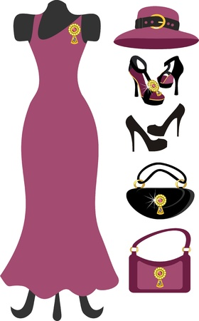 dress and accessory Vector