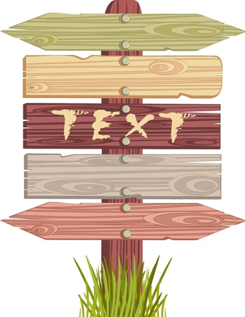 wooden sign Stock Vector - 20910386