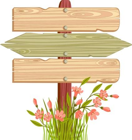 wooden sign Stock Vector - 20910382