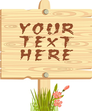 wooden sign Stock Vector - 20910380