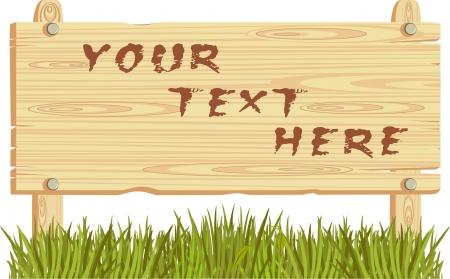 wooden sign Stock Vector - 20910381