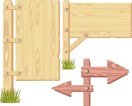 signboard form: wooden sign Illustration