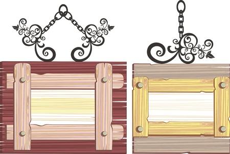 wooden frame Stock Vector - 21125855
