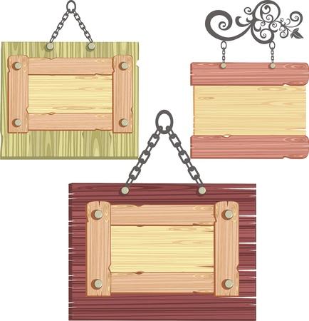 signboard form: wooden frame