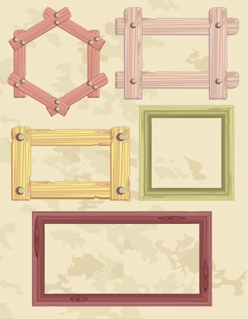 wooden frame Stock Vector - 20932060