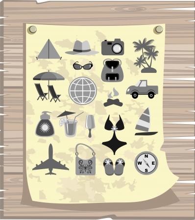 signboard form: travel Illustration