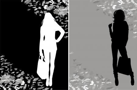 sopping: sopping silhouette Illustration