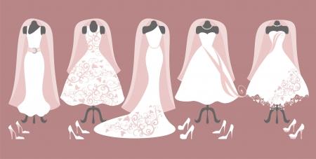 Sammlung von Hochzeitskleid