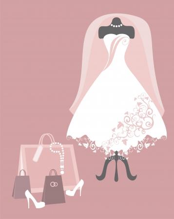bridal salon: wedding dress