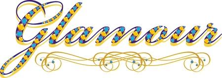 gold chain: jewel Illustration