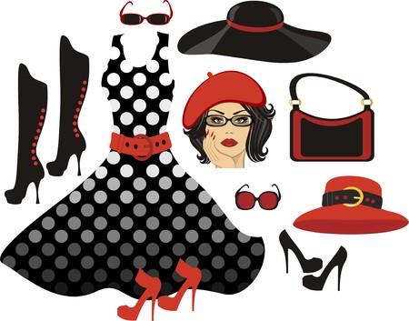 Woman fashion collection Vectores
