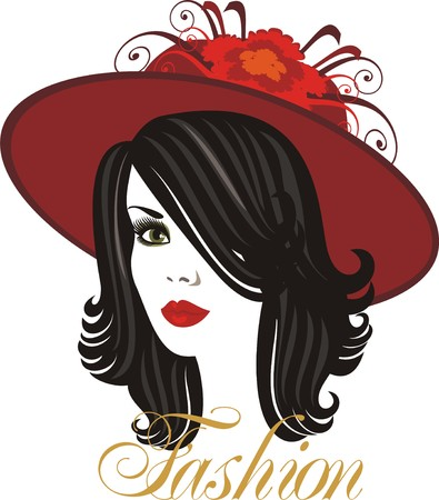 pamper: lady in hat Illustration