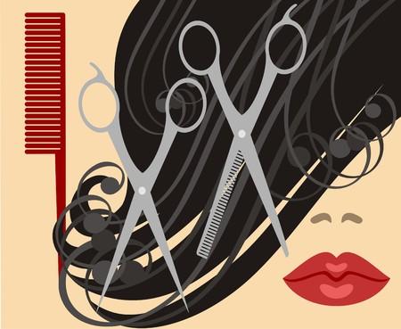 plastic comb: haircut