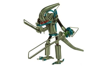 Iron Wire Alien Stock Photo