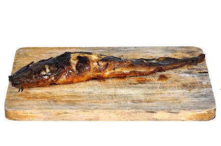 bagre: pez gato a la parrilla