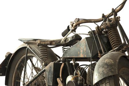 Old motorcycle war II Stock Photo