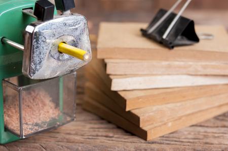 sharpener: sharpener of pencil Vintage style