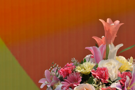 congratulate: bouquet of flowers to congratulate Stock Photo