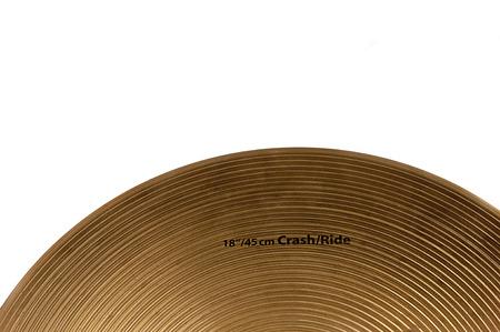 cymbal: cymbal on white background.