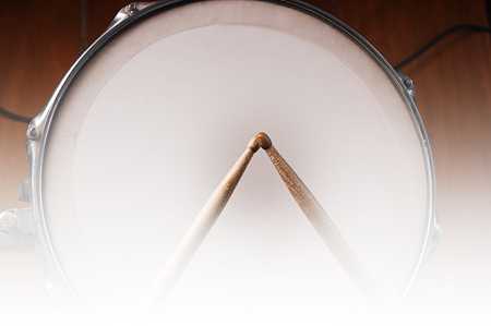 chrome base: drumstick and snare drum