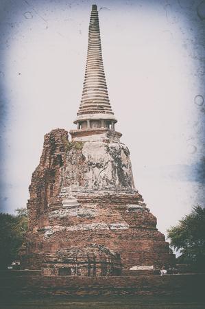 Wat Mahathat Buddha head in tree, Ayutthaya Stock Photo