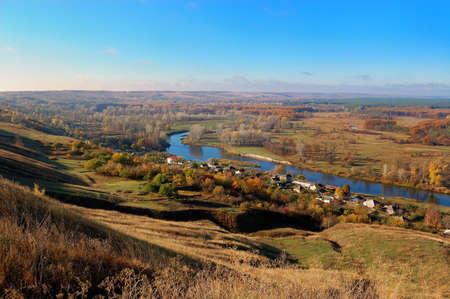 beauty autumn landscape Stock Photo