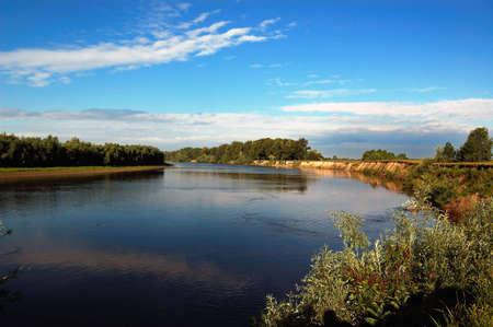 matutinal river Stock Photo