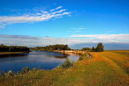 matutinal river at the beginning initially day