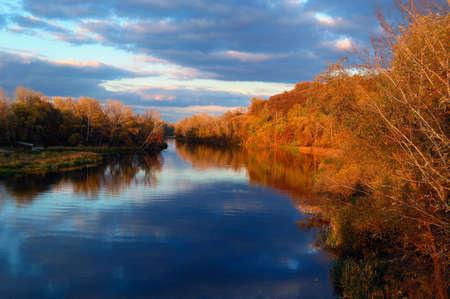 autumn evening river