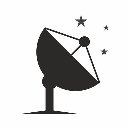 Satellite dish vector icon