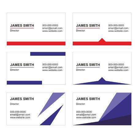 Modelli di biglietti da visita set vettoriale - stampabile
