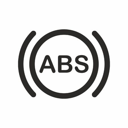 Abs, car, dashboard, indicator icon vector