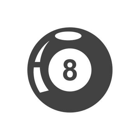 8 ball billiard vector