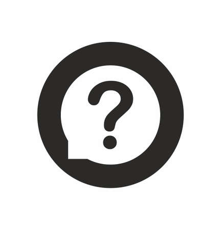 Question mark icon in flat style on white background vector illustration Vector Illustratie